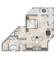 Deluxe Guestroom Floor Plan
