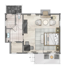 Chef's Cottage Floor Plan
