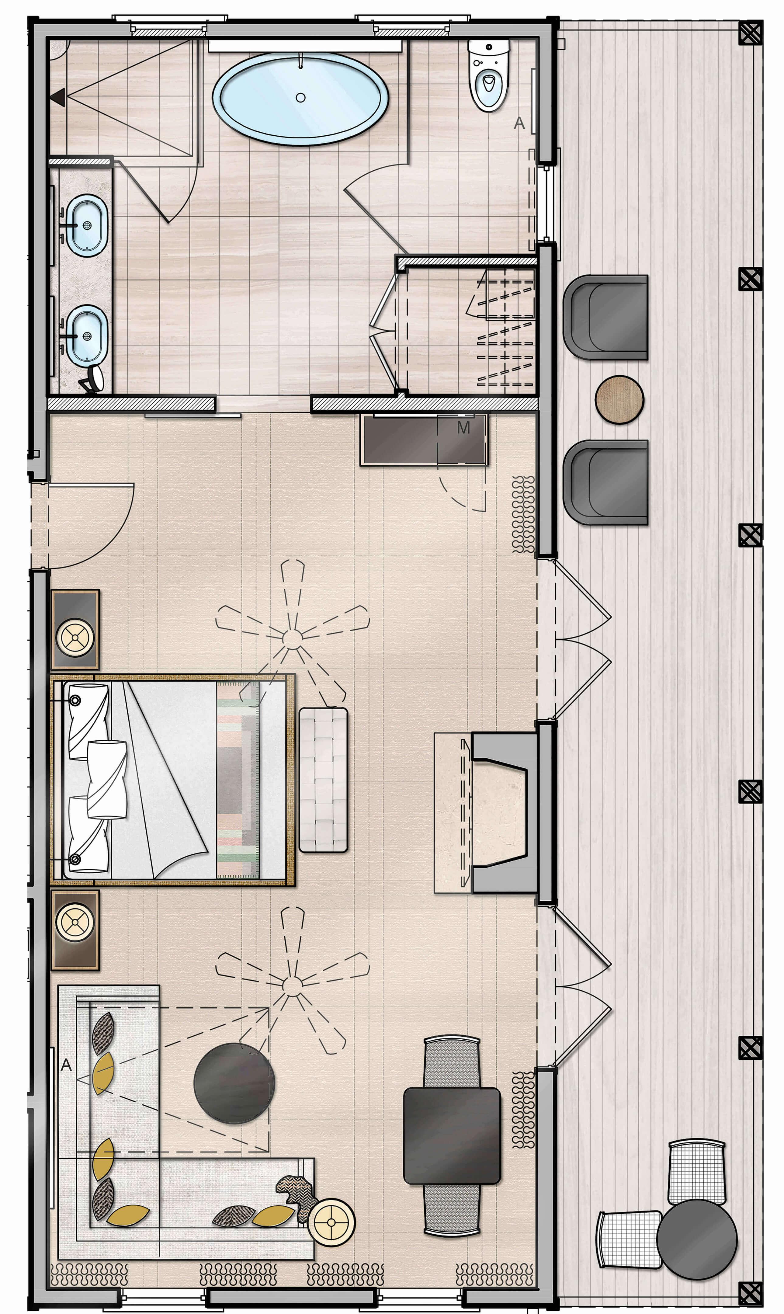 Julia Suite Floor Plan
