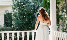 Bride on Porch