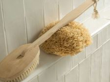 Natural loofa and bath brush