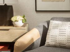 Guestroom seating vignette