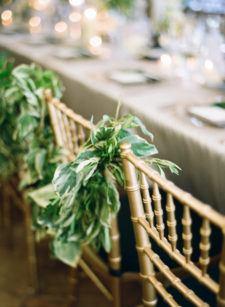 Wedding reception chair backs