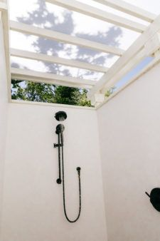 Shower under the Sonoma sky