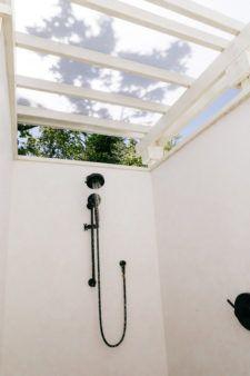 Shower under the Sonoma sky
